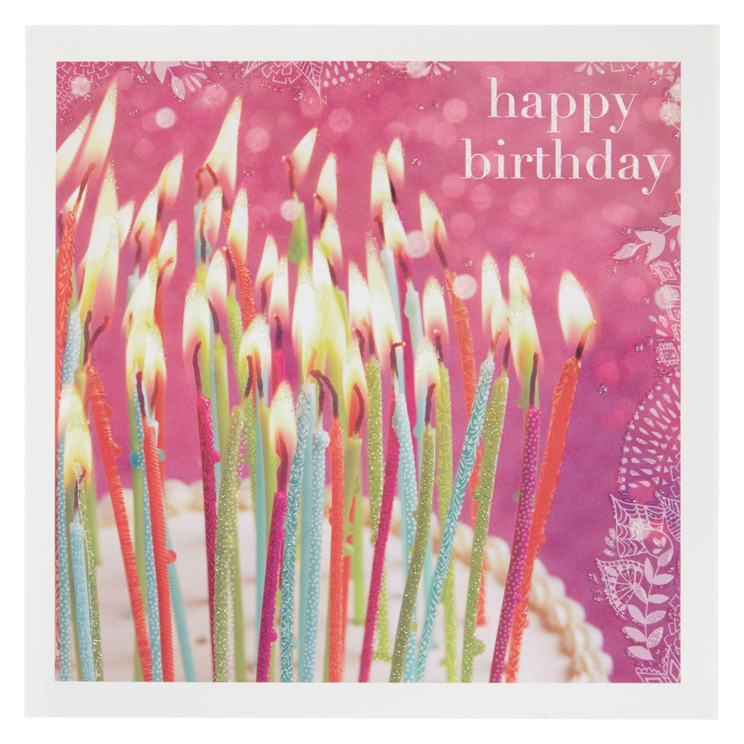 Birthday Cake John Lewis : Buy Woodmansterne Cake and Candles Birthday Card John Lewis