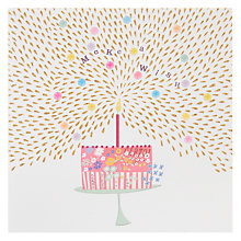 Buy Woodmansterne Make A Wish Cake Birthday Card Online at johnlewis.com