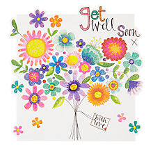 Buy Rachel Ellen Get Well Bouquet Greeting Card Online at johnlewis.com