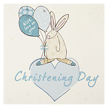 Buy The Little Dog Laughed Boy Christening Card Online at johnlewis.com