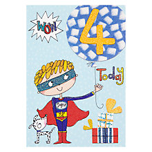 Buy Rachel Ellen Fidget Age 4 Boy Birthday Card Online at johnlewis.com