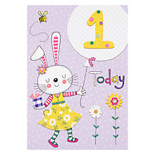 Buy Rachel Ellen Fidget Age 1 Girl Birthday Card Online at johnlewis.com