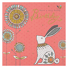 Buy Rachel Ellen Hoppy Birthday Bunny Greeting Card Online at johnlewis.com