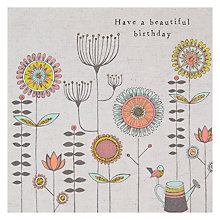 Buy Rachel Ellen Beautiful Birthday Floral Greeting Card Online at johnlewis.com