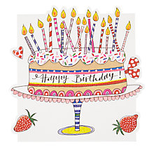 Buy Rachel Ellen Cake and Candles Greeting Card Online at johnlewis.com