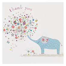 Buy Woodmansterne Elephant Blowing A Bouquet Thank You Card Online at johnlewis.com