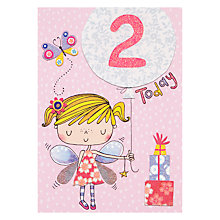 Buy Rachel Ellen Fidget Age 2 Girl Birthday Card Online at johnlewis.com