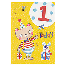 Buy Rachel Ellen Fidget Age 1 Boy Birthday Card Online at johnlewis.com