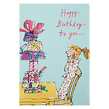 Buy Woodmansterne Girl And Presents Birthday Card Online at johnlewis.com