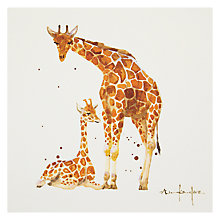 Buy Mint Giraffe Mum And Baby Greeting Card Online at johnlewis.com