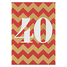 Buy Lagom Designs Forty Birthday Card Online at johnlewis.com