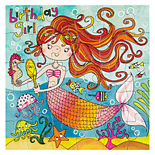 Buy Rachel Ellen Mermaid Birthday Card Online at johnlewis.com