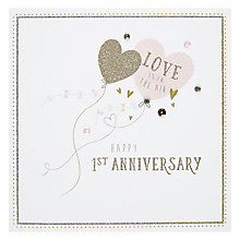 Buy Hotchpotch 1st Anniversary Balloon Greeting Card Online at johnlewis.com