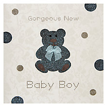 Buy Five Dollar Shake Gorgeous New Baby Boy Greeting Card Online at johnlewis.com