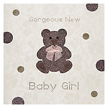 Buy Five Dollar Shake Gorgeous New Baby Girl Greeting Card Online at johnlewis.com