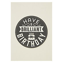 Buy Velvet Olive Brilliant Birthday Card Online at johnlewis.com