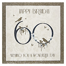 Buy Five Dollar Shake Happy 60th Birthday Card Online at johnlewis.com