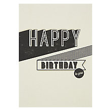 Buy Velvet Olive Happy Birthday Card Online at johnlewis.com