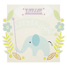 Buy Caroline Gardner Hello Little One Greeting Card Online at johnlewis.com