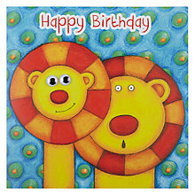 Buy Twizler Lovely Lions Birthday Card Online at johnlewis.com