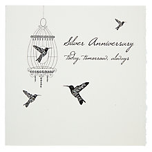 Buy Five Dollar Shake Silver Anniversary Greeting Card Online at johnlewis.com