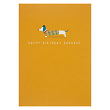 Buy Art File Happy Birthday Sausage Greeting Card Online at johnlewis.com