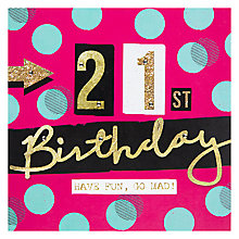 Buy Hammond Gower 21st Birthday Card Online at johnlewis.com