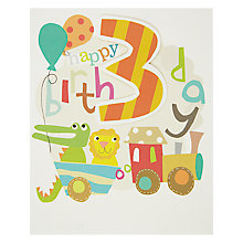 Buy Caroline Gardner 3rd Birthday Card Online at johnlewis.com