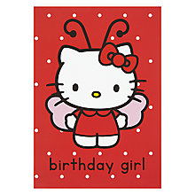 Buy Hype Hello Kitty Butterfly Greeting Card Online at johnlewis.com
