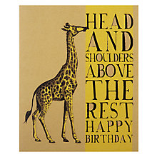 Buy Art File Head & Shoulders Greeting Card Online at johnlewis.com