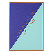 Buy Lagom Designs How The Devil Greeting Card Online at johnlewis.com