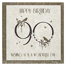Buy Five Dollar Shake Happy 90th Birthday Card Online at johnlewis.com