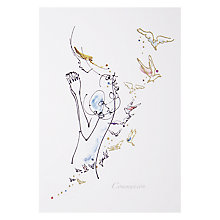 Buy Woodmansterne Lady With Birds Greeting Card Online at johnlewis.com