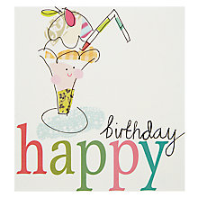 Buy Caroline Gardner Ice Cream Sundae Birthday Card Online at johnlewis.com