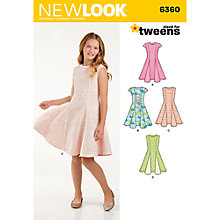 Buy New Look Children's Dress Sewing Pattern, 6360 Online at johnlewis.com