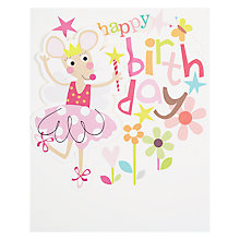 Buy Caroline Gardner Mouse Fairy Greeting Card Online at johnlewis.com