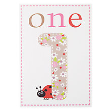 Buy Card Mix Patterned 1st Birthday Card Online at johnlewis.com