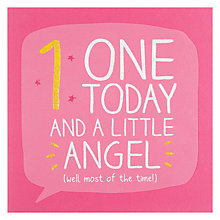 Buy Happy Jackson One Today Little Angel Birthday Card Online at johnlewis.com