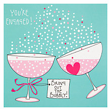 Buy Rachel Ellen You're Engaged Champagne Glasses Greeting Card Online at johnlewis.com