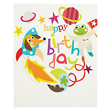 Buy Caroline Gardner Space Dog Greeting Card Online at johnlewis.com