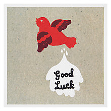 Buy Urban Graphic Bird Muck for Luck Greeting Card Online at johnlewis.com