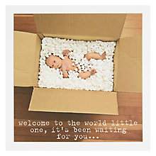 Buy Icon New Baby Welcome Greeting Card Online at johnlewis.com