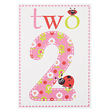 Buy Card Mix Floral Pattern 2nd Birthday Card Online at johnlewis.com