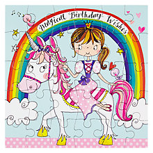Buy Rachel Ellen Princess & Unicorn Birthday Card Online at johnlewis.com