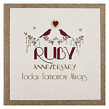 Buy Five Dollar Shake Ruby Anniversary Greeting Card Online at johnlewis.com