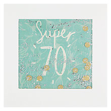 Buy James Ellis Stevens Super 70 Birthday Card Online at johnlewis.com