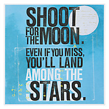 Buy Urban Graphic Shoot For The Moon Good Luck Card Online at johnlewis.com