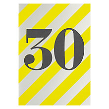 Buy Lagom Designs Thirty Birthday Card Online at johnlewis.com