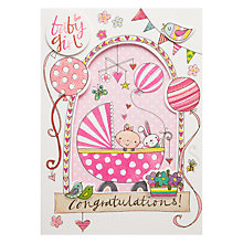 Buy Rachel Ellen Baby Girl Window Greeting Card Online at johnlewis.com