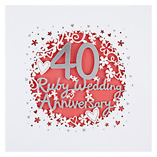 Buy Paperlink 40th Wedding Anniversary Greeting Card Online at johnlewis.com